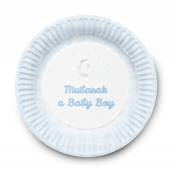 Assiettes à dessert Birth Boy (lot de 6)