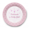Dessertbordjes Geboorte Meisje (set van 6)