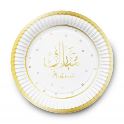 Dessertteller Mubarak Weiß / Gold (6er Set)