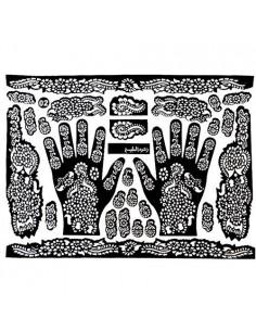 Henna Sjabloon 2 x Handen