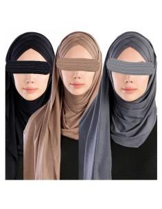 Instant Jersey Hijab - Cross
