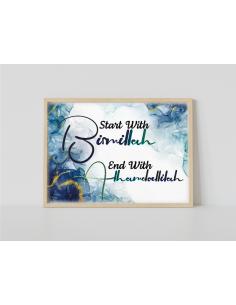 Poster - Begin with Bismillah