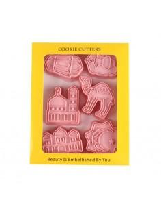 3D koekjesuitstekers roze...