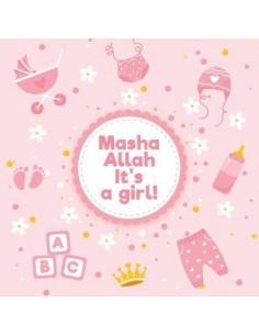 Greeting Card Birth Girl -...