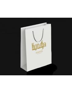 """Cadeautas """"HADIYA"""" wit/goud"""