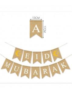 Bunting - Jutes - Eid Mubarak
