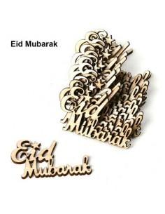 Houten EID Mubarak - 15 Stuks