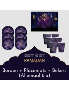 Eetset Ramadan paars/goud...