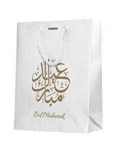Cadeautas Eid Mubarak wit/goud