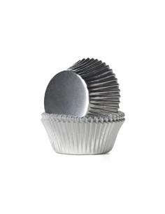 Cupcake cups ZILVERFOLIE -...