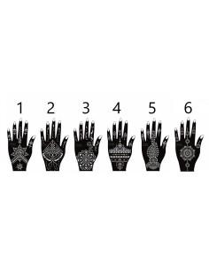 Henna Hand Sjabloon Links