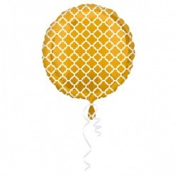 Foil balloon Quatrefoil balloon gold/white