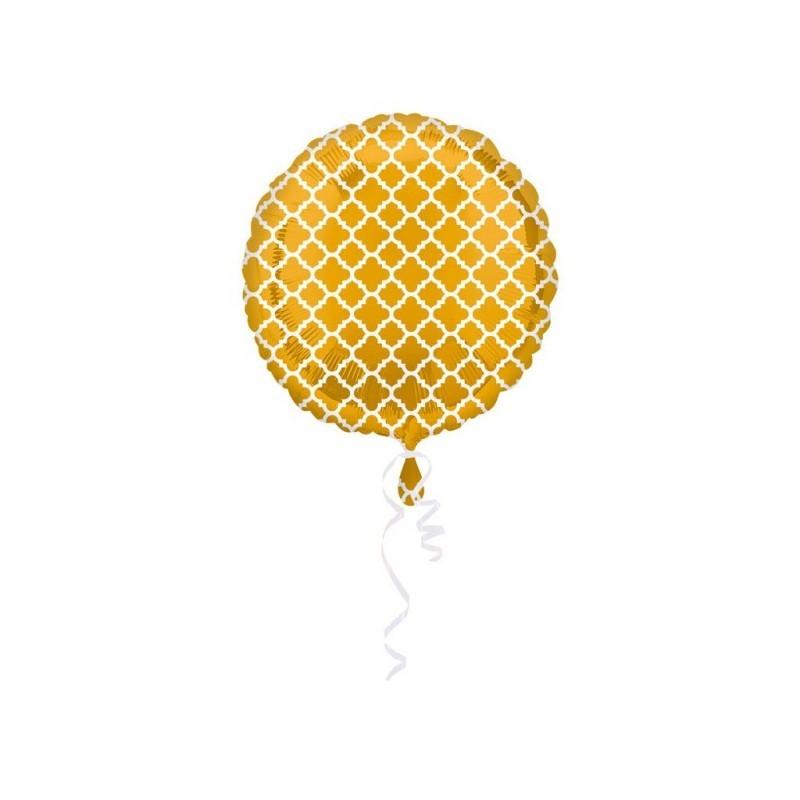 Foil balloon quatrefoil gold