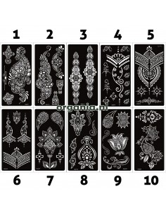 Sjabloon Sticker voor Henna...