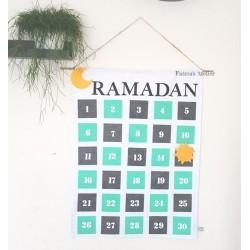 Ramadan Calender handmade mint/grey
