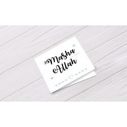 Wenskaart 'Ma sha Allah a boy'