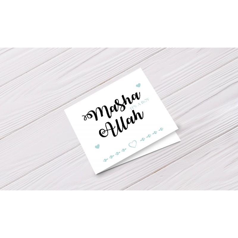 Greeting card 'Ma sha Allah it's a boy'