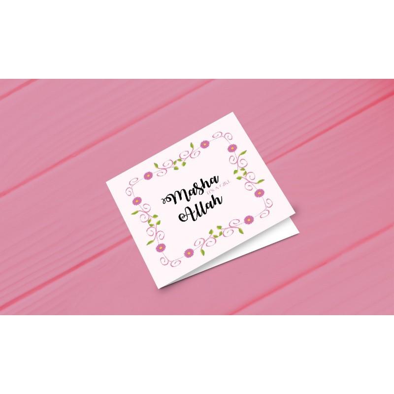 Greeting card 'Ma sha Allah a girl'