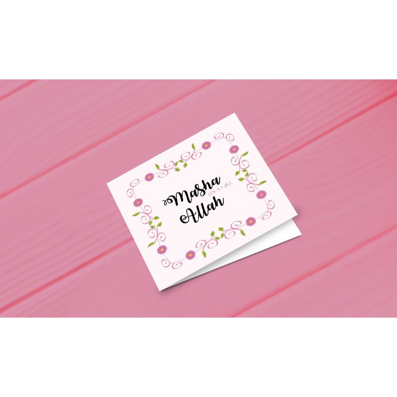 Greeting card 'Ma sha Allah a girl'