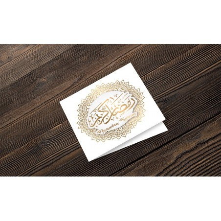 Greeting card Ramadan Kareem - Gold