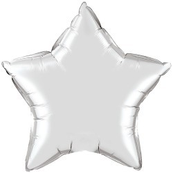 Star Balloon silver large