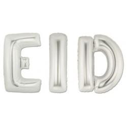 Balloon Letters EID Silver