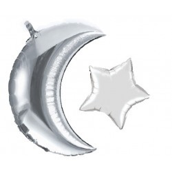 Moon + Star balloon (Silver)