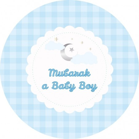 Dessert Plates Boy (6 pieces)