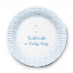 Dessertbordjes Geboortje Jongen (6 stuks)