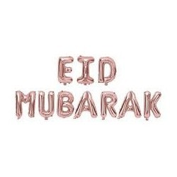 Eid Mubarak Letters Gold