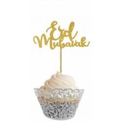 cupcaketopper Eid Mubarak - Gold (6 pcs)