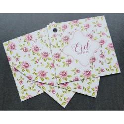 Eid Mubarak giftcards - Vintage Rose (4 pieces)
