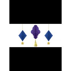 Lanterne papier purple