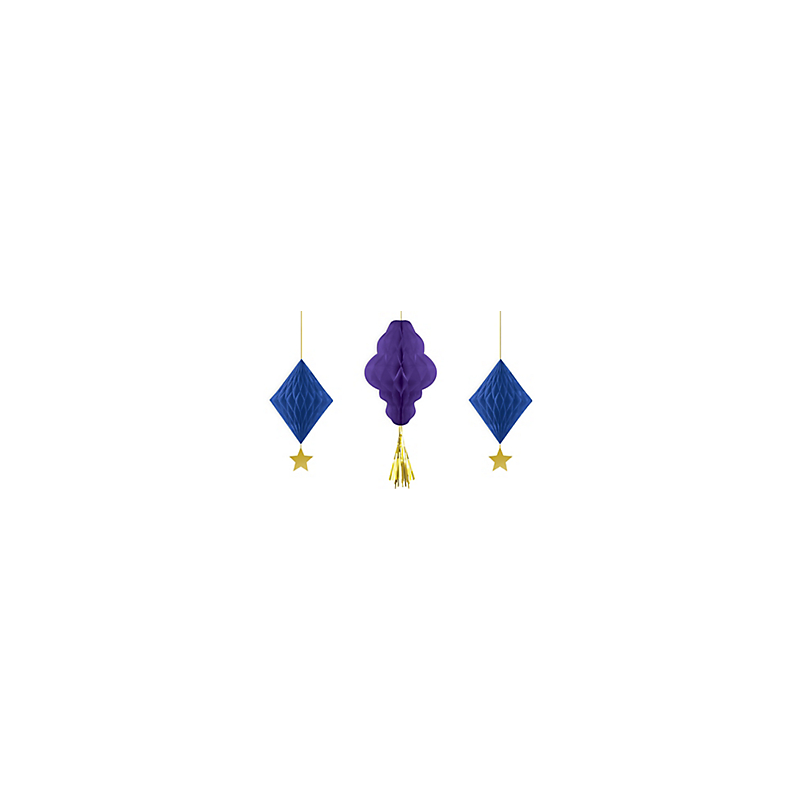 Honeycomb Decorations Purple