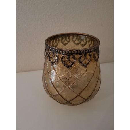 Windlicht 'Marakkech' - medium (goud)