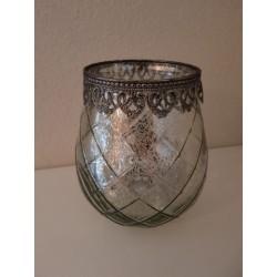 Lanterne 'Marakkech' - Large (argent)