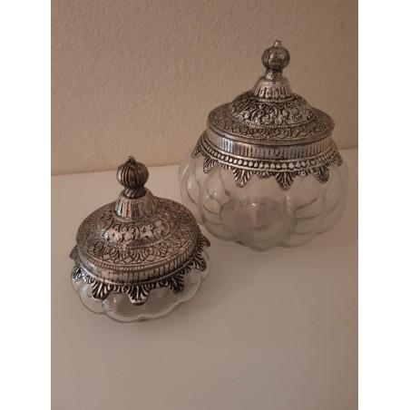 Glazen pot 'Amira' - klein