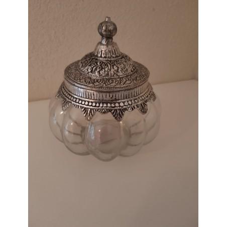 Glazen pot 'Amira' - medium