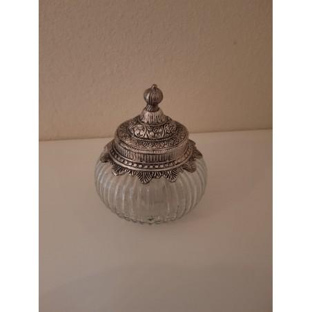 Glazen pot 'Faiza' - medium