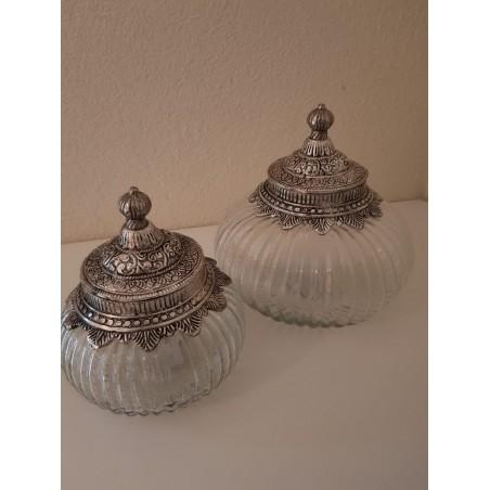 Glazen pot 'Faiza' - Large