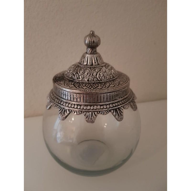Glazen pot 'Laila' - medium