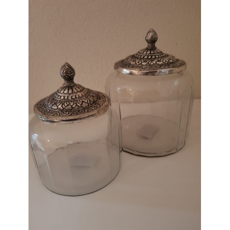 Glazen pot 'Maysa' - Large