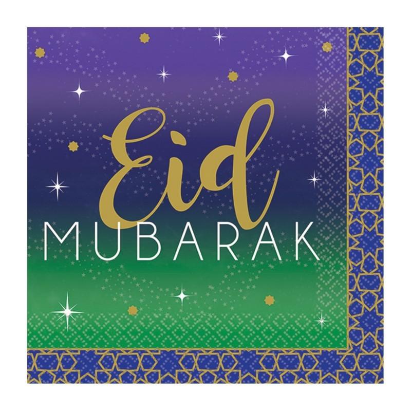 Papieren servetten Eid (paars)