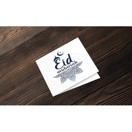 Greeting Card Eid Mubarak Blue