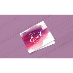 Greeting Card Eid Mubarak Fushia