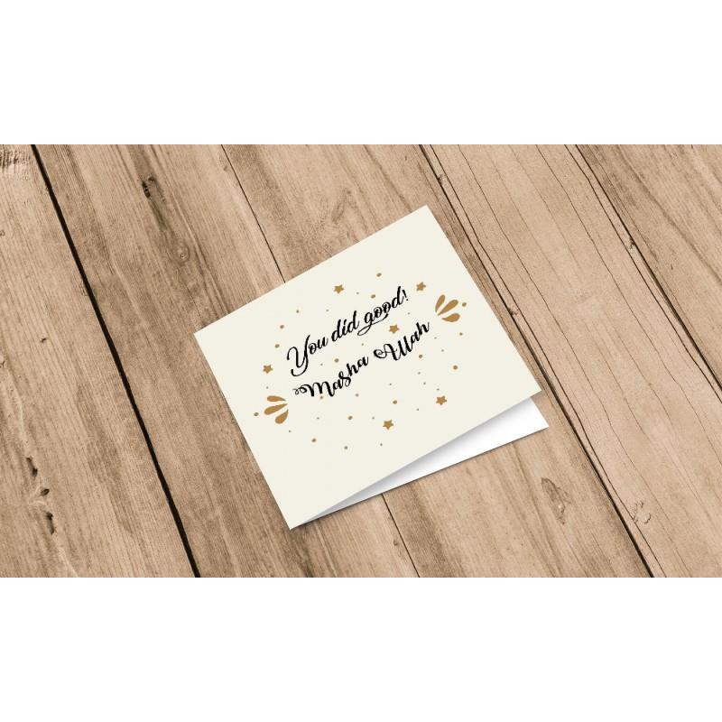 Greeting Card You did Good