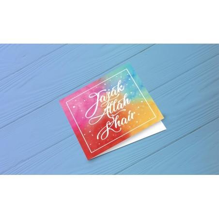 Greeting Card Jazakallah Gair