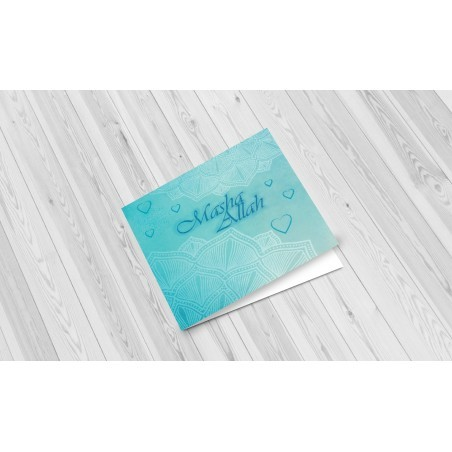 Greeting Card Masha Allah Blue