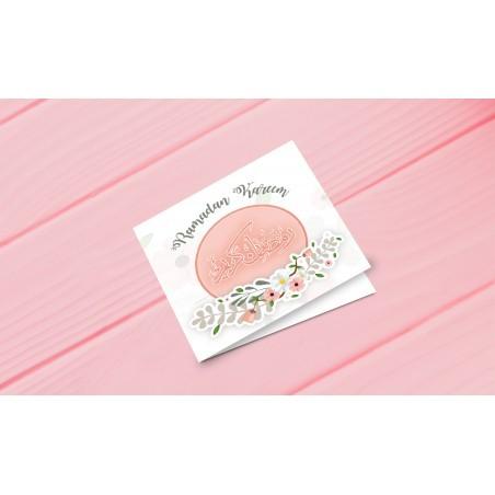 Greeting Card Ramadan Kareem - Pastel Pink
