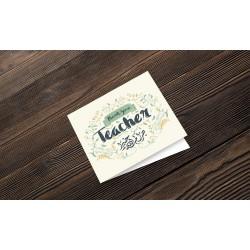Greeting Card Teacher Flower
